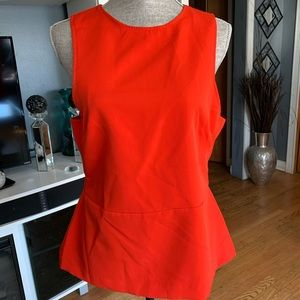 H&M Sleeveless Peplum Top W/Cut Out Side Squares